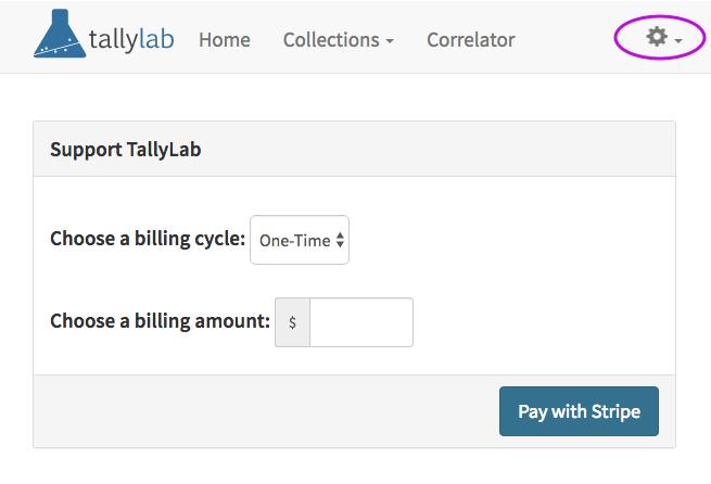 Screenshot of the new billing form